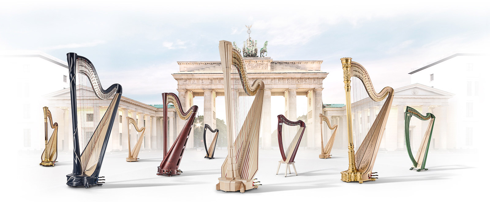 Der beste Ansprechpartner für Harfen in Deutschland <small>– Pedal – und Hakenharfen –</small>